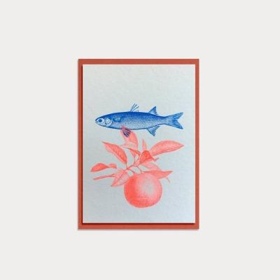 HungryPaper Klappkarte Fisch /A6/ Eco Love
