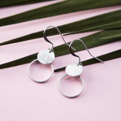 Minimalistische Ohrhänger silber - Sergio Engel