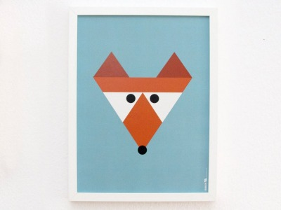 Poster Fuchs 30x40 cm - FräuleinEA