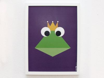 Poster Froschkönig 30x40 cm - FräuleinEA