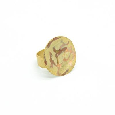 Großer Minimalistischer Ring gold vergoldetes Messing