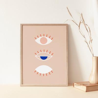 Kunstdruck Line Drawing Eye Nude A4