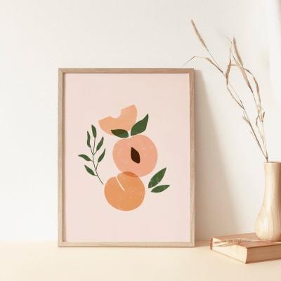 Kunstdruck Peach A4 la maison merle