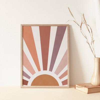 Kunstdruck Sun Print A4 la maison