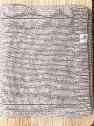 SCHAL MIT PATCH Grey mel Merz