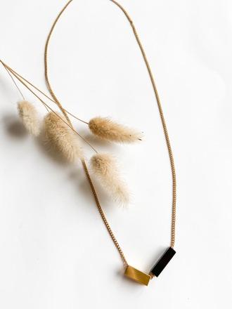 POTIPOTI Accessories Rainbow Kette schwarz/gold cm