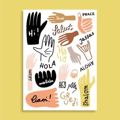 Postkarte - Hi - familytreeshop