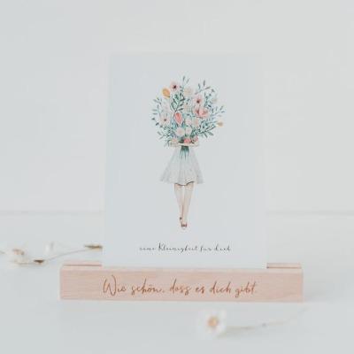 Eulenschnitt Postkarte Blumenmädchen eine Kleinigkeit für