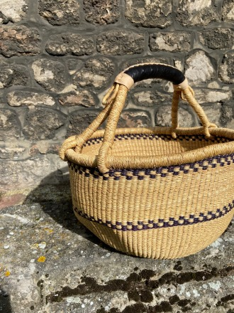 BEAUMONT ORGANIC ROUND BASKET-MONOCHROME Made ethically