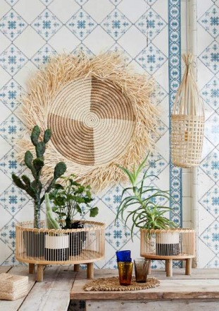 Wanddekoration RAFFIA DISC Liv Interior sustainable