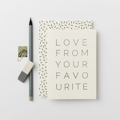 Klappkarte LOVE FROM YOUR FAVOURITE CARD