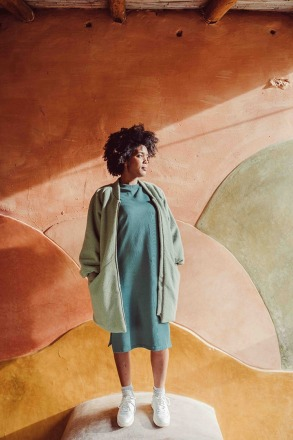 Monkind Mint Wool Coat Adults sustainable