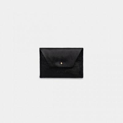 ann kurz Mika Black Leather Mini