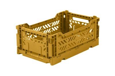 AyKasa Mini Storage Box Mustard Storage