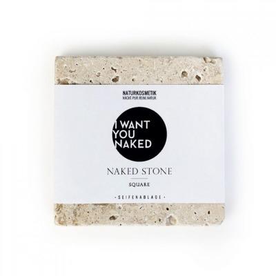 SOAP STONE Seifenablage aus Naturstein quadratisch