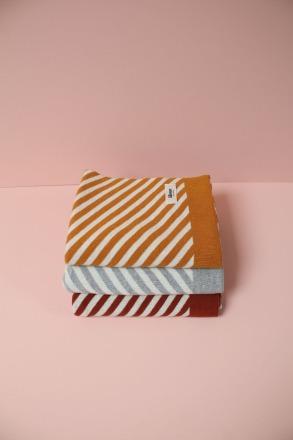 Eef Lillemor Blanket stripes/rust Babydecke