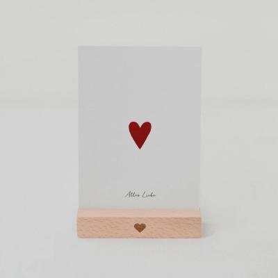 Eulenschnitt - POSTKARTE - Kleines Herz