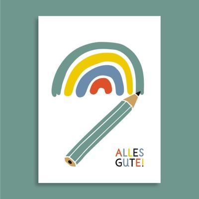 Postkarte - Alles Gute - familytreeshop