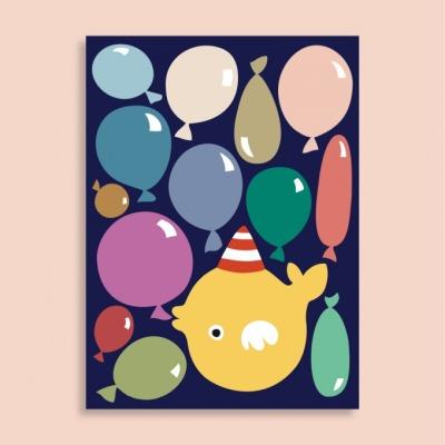 Postkarte - Ballons - familytreeshop