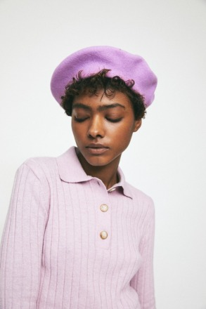 RITA ROW Maple Beret Lilac Ethically