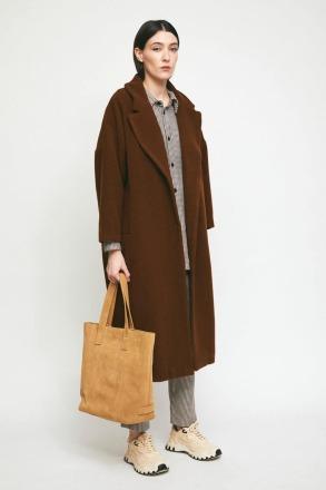RITA ROW Cedar Coat Brown Ethically