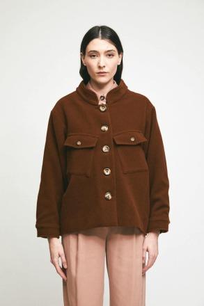 RITA ROW Serval Coat Brown Ethically