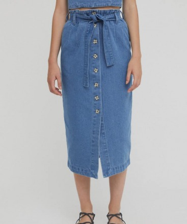 RITA ROW Dixon Skirt Denim Ethically