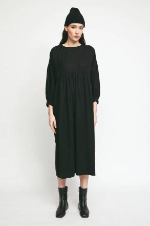 RITA ROW Selva Dress Black Lyocell