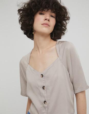 RITA ROW Filis Shirt Sand Ethically