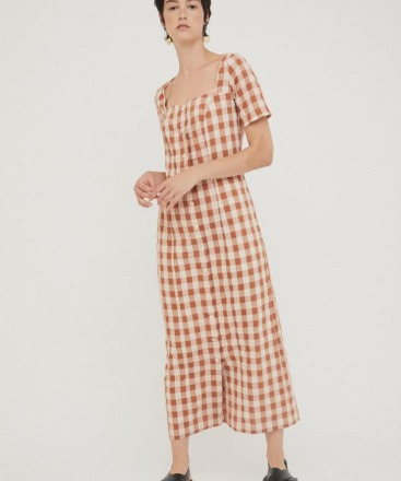 RITA ROW Maria Long Dress Brown