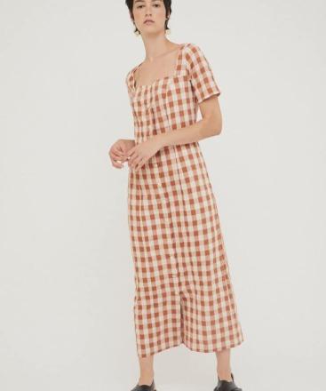 RITA ROW Maria Long Dress Brown