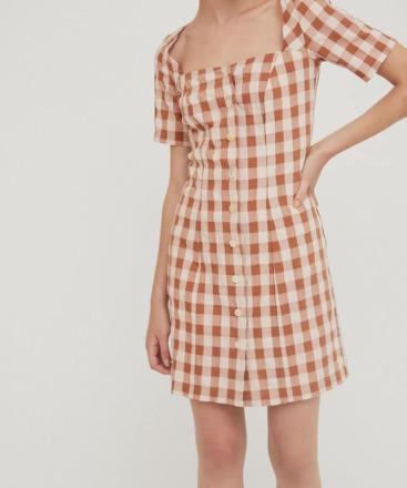 RITA ROW Maria Short Dress Brown