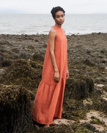 BEAUMONT ORGANIC PRIYA-CLAY DRESS 100 Linen