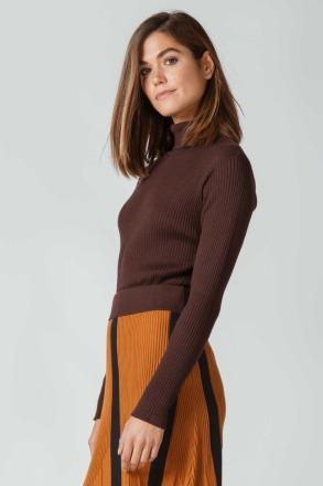 SKFK ALDARA T-SHIRT dark brown FAIRTRADE