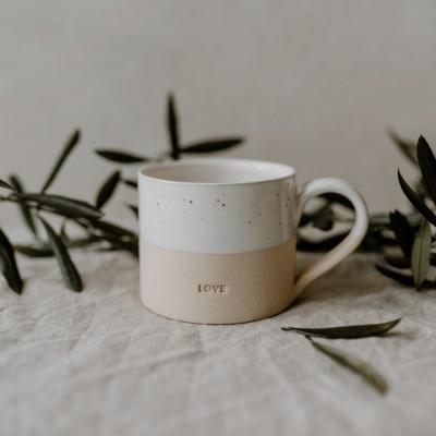 Eulenschnitt TASSE LOVE Tasse aus Steingut