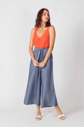 SKFK DONA Trousers light blue 100