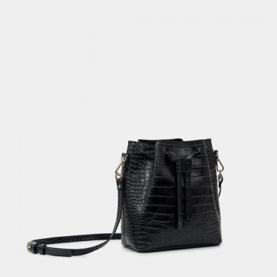 ann kurz SAKU LITTLE Croco Black