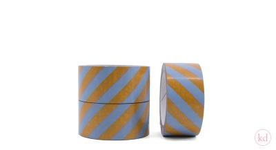 Paketband Stripes Sage Green Sticky Lemon