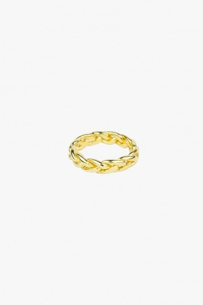 Braided ring gold - wildthings collectables