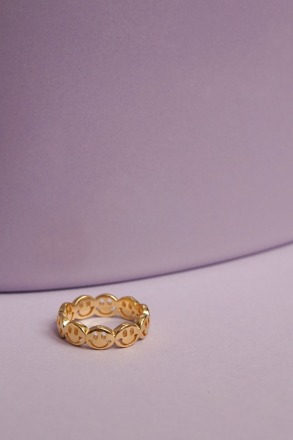 wildthings collectables Smiley ring gold plated
