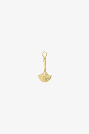 Fan brush earring charm gold wildthings