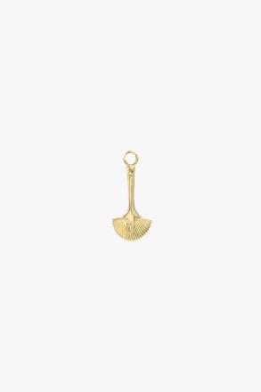 Fan brush earring charm gold wildthings