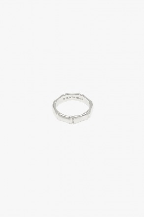 Bamboo ring silver - wildthings collectables