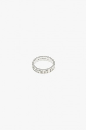 Kissed by the sun ring silver