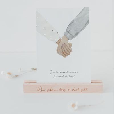 Eulenschnitt - Postkarte - Immer da