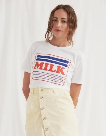 MILK WOMOM T-SHIRT aus 100 Organic