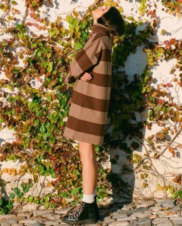 Xena-Sue Organic Cotton Dress In Chocolate