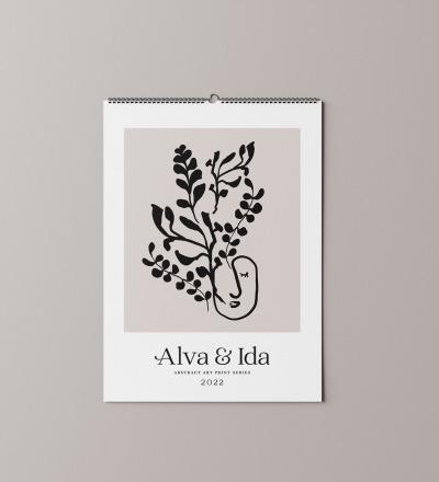 Wandkalender -Designversion- Nachhaltig gedruckter Wandkalender DIN
