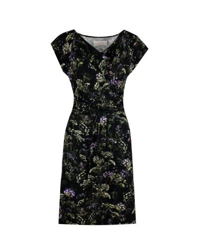 DRAPIERTES KLEID - Kleid mit Wasserfallausschnitt