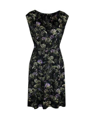 GERAFFTES KLEID Kleid mit gerafftem Ausschnitt